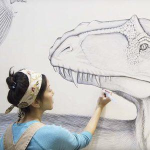 Jane Kim Painting Yutyrranus