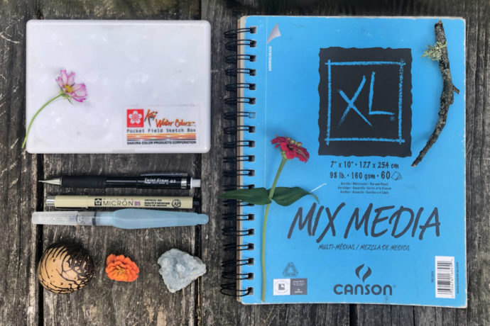 Nature journaling supplies