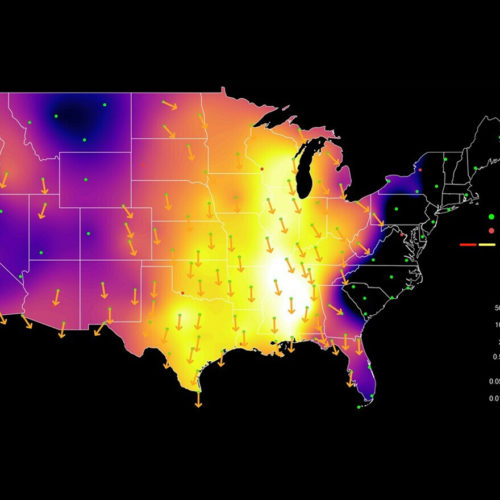 heat map of bird migration in the united states
